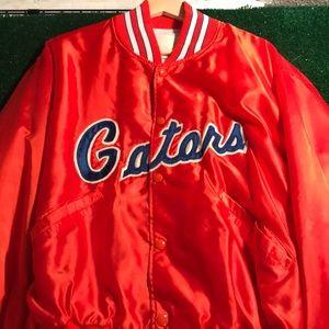 Vintage 1980s gator silk bomber jacket